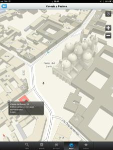 2GIS THE CITY EXPERT schermata Basilica del santo PAdova ottimizzato per iPad