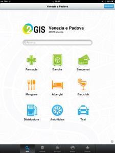 2GIS THE CITY EXPERT schermata iniziale ottimizzato per iPad
