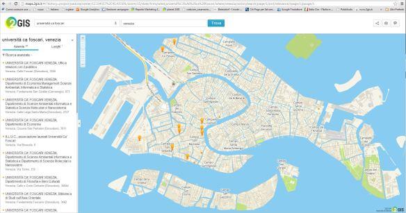 2GIS THE CITY EXPERT - Università di Cà Foscari - Venezia - sedi universitarie - contatti